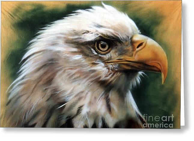 Southwest Wildlife Greeting Cards - Leather Eagle Greeting Card by J W Baker