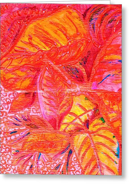 Leaves For Leslie Greeting Card by Anne-Elizabeth Whiteway