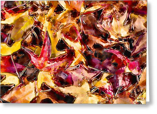 Marilyn Sholin Greeting Cards - Leaves of Glass Greeting Card by Marilyn Sholin