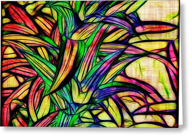 Leaves of Imagination Greeting Card by Judi Bagwell