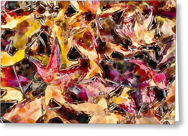 Leaves on Acid Greeting Card by Marilyn Sholin