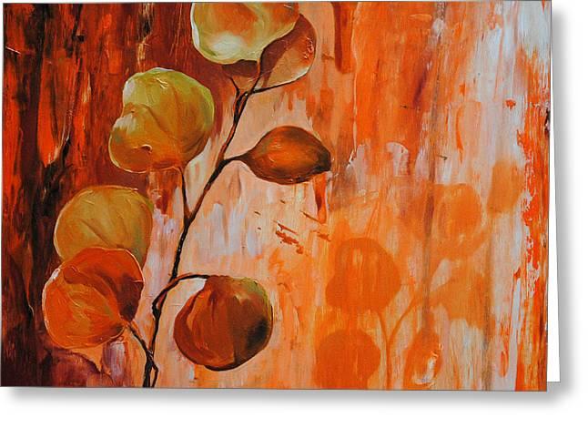 Leaves1 Greeting Card by Chris Steinken