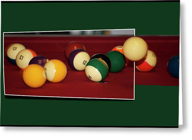 Billards Greeting Cards - Leaving the Table Greeting Card by Thomas Woolworth