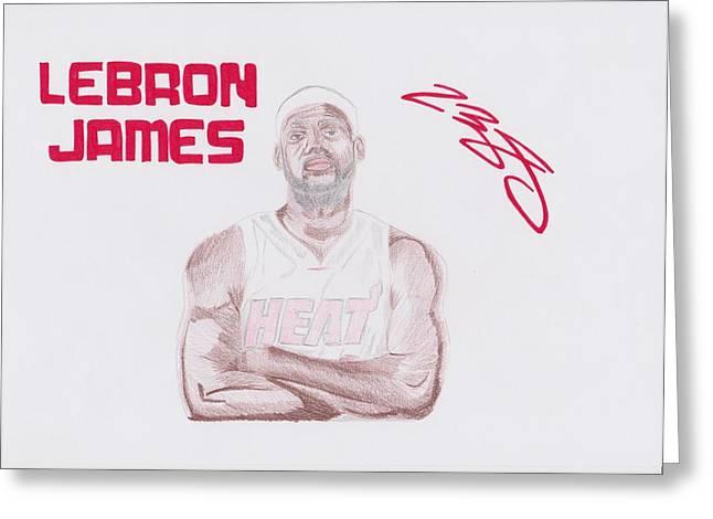 LeBron James Greeting Card by Toni Jaso