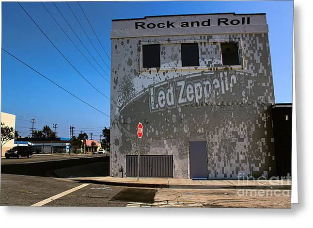 Led Zeppelin I Greeting Card by RJ Aguilar