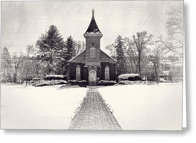 Lee Chapel February 2012 Series III Greeting Card by Kathy Jennings