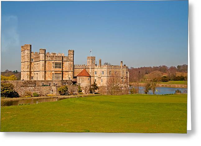Leeds Greeting Cards - Leeds Castle Golf Course View 2 Greeting Card by Chris Thaxter