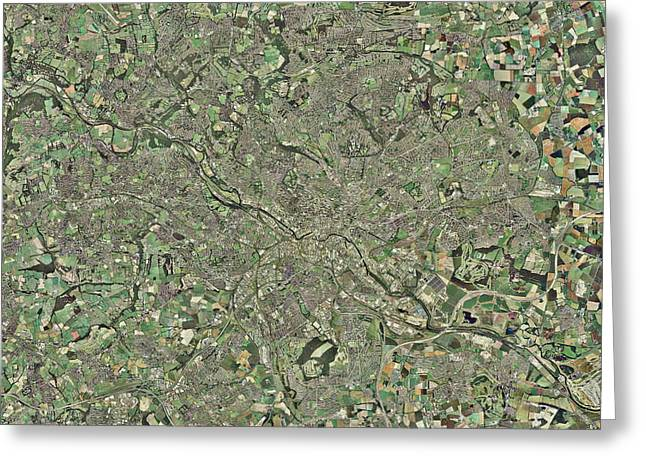 West Yorkshire Greeting Cards - Leeds, Uk, Aerial Image Greeting Card by Getmapping Plc