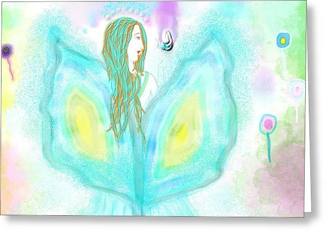 Leelavy Fairy / Fada Leelavy Greeting Card by Rosana Ortiz
