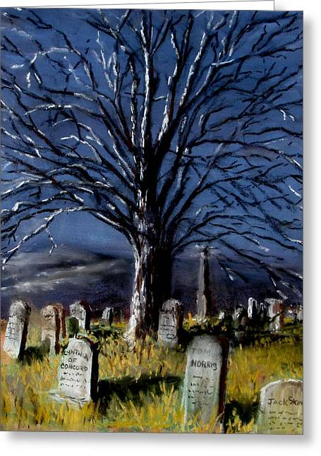 Cemetary Pastels Greeting Cards - Left Alone Greeting Card by Jack Skinner