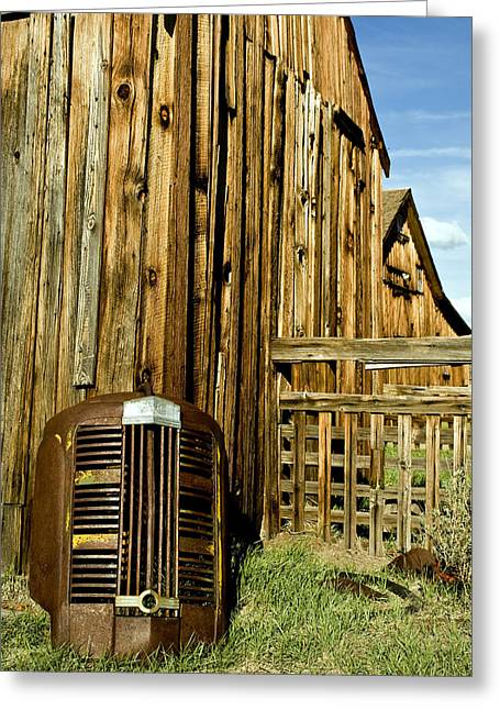 Truck Grill. Fence Greeting Cards - Leftovers Greeting Card by Aron Kearney Fine Art Photography
