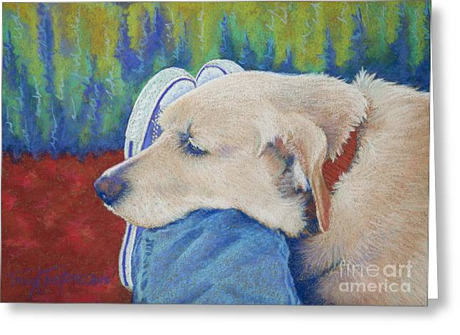 Hunter Pastels Greeting Cards - Leg Warmer Greeting Card by Tracy L Teeter