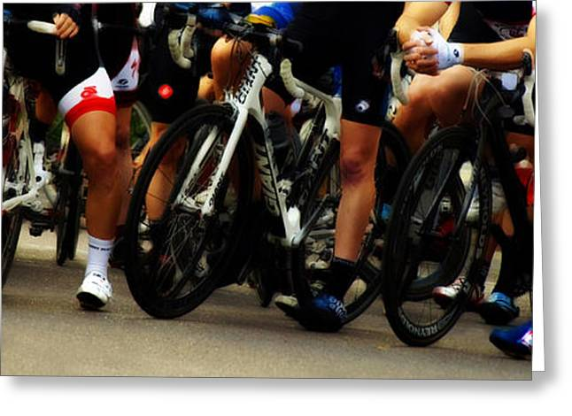 Bicycle Racing Greeting Cards - Leg Works  Greeting Card by Steven  Digman