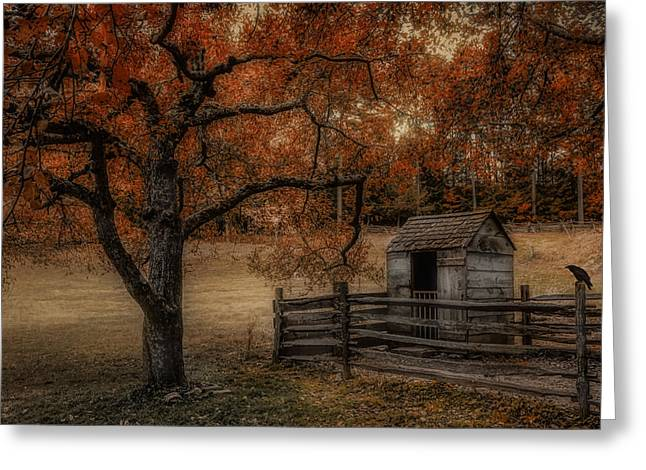 Outhouse Greeting Cards - Legend of the Fall Greeting Card by Robin-lee Vieira