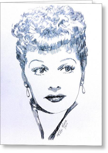 I Love Lucy Greeting Cards - Legend Greeting Card by Robbi  Musser