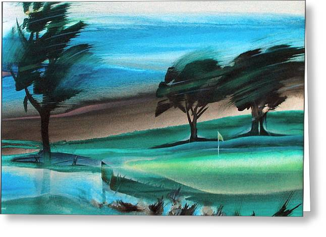 Carmona Greeting Cards - Legends Golf Course 1998 Greeting Card by Glenn Bautista