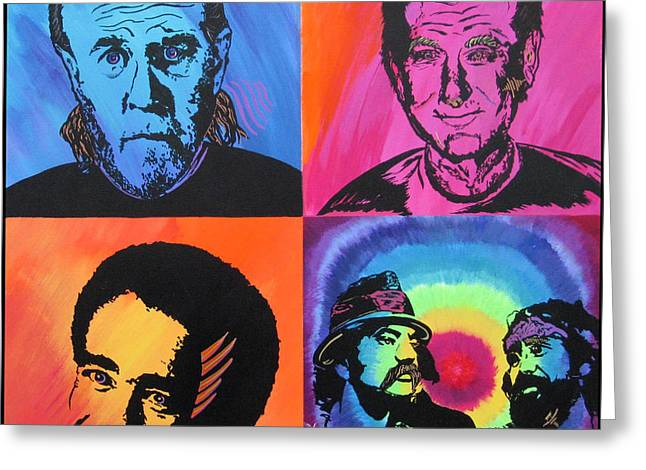 Etc. Paintings Greeting Cards - Legends of Laughter Greeting Card by Bill Manson