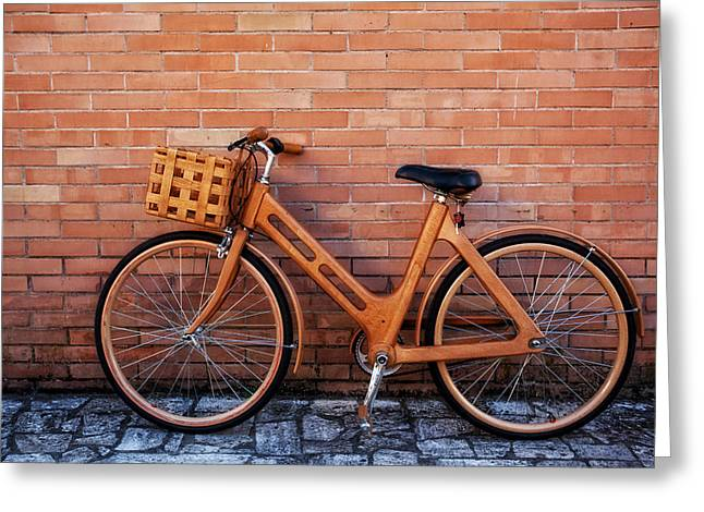 Bicycling Tuscany Greeting Cards - LEgnac-Italy Greeting Card by John Galbo