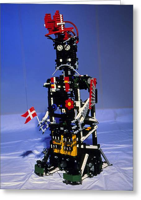 Lego Greeting Cards - Lego Humanoid Robot Known As Elektra Greeting Card by Volker Steger