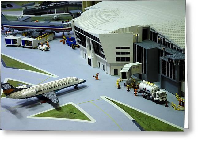 Legoland Dallas III Greeting Card by Ricky Barnard