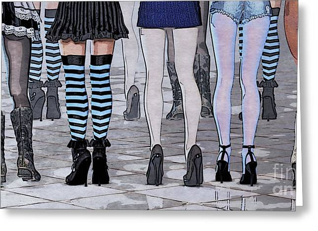 Legs Greeting Card by Jutta Maria Pusl