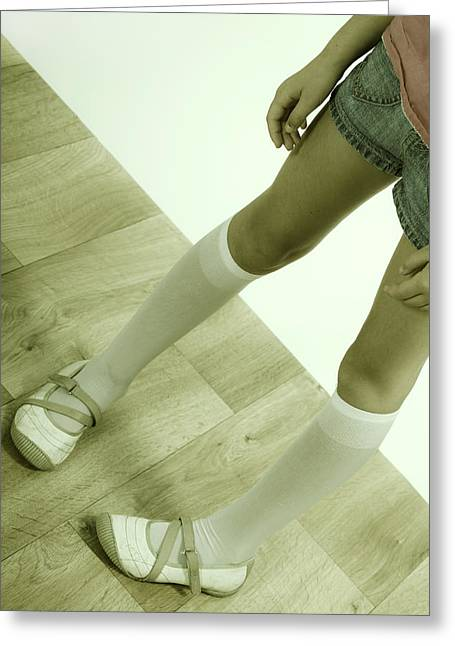 Partial Greeting Cards - Legs of a girl Greeting Card by Joana Kruse
