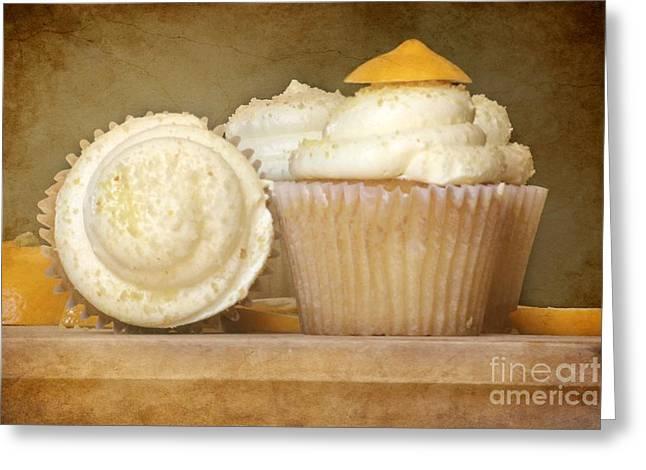 Lemon Art Greeting Cards - Lemon Cupcakes Feast Greeting Card by Sophie Vigneault