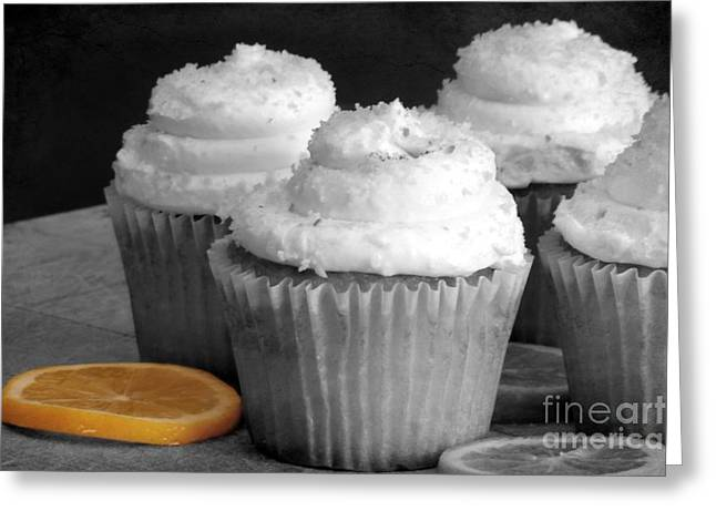 Lemon Cupcakes With A Twist Greeting Card by Sophie Vigneault