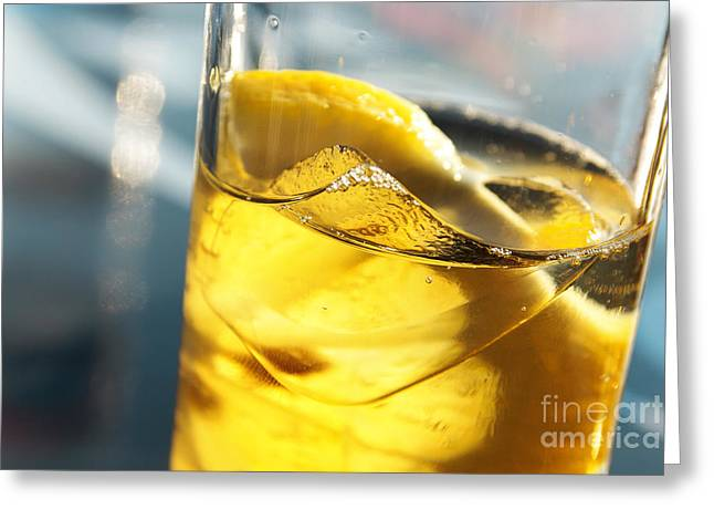 Sour Greeting Cards - Lemon Drink Greeting Card by Carlos Caetano