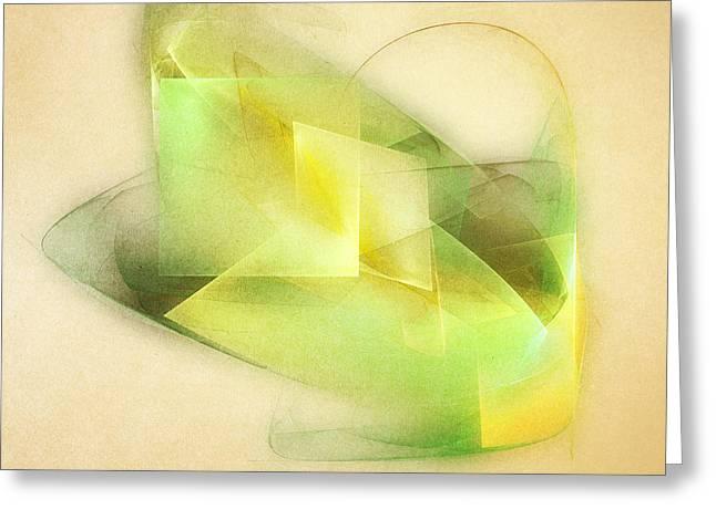 Fractals Digital Art Greeting Cards - Lemon Lime Greeting Card by Scott Norris