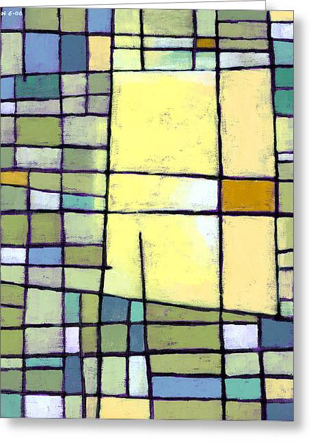 Patterns Paintings Greeting Cards - Lemon Squeeze Greeting Card by Douglas Simonson
