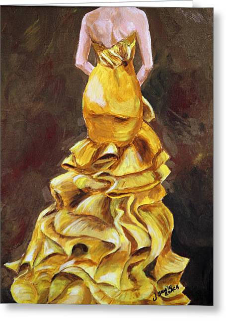 Strapless Dress Greeting Cards - Lemon Twist Greeting Card by Jennifer Koach