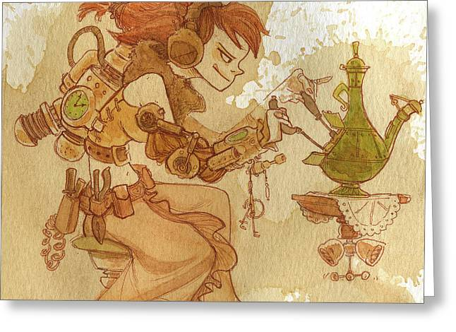 Steampunk Photographs Greeting Cards - Lemongrass Greeting Card by Brian Kesinger