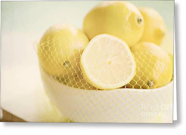 Lemon Art Greeting Cards - Lemons Greeting Card by Kim Fearheiley
