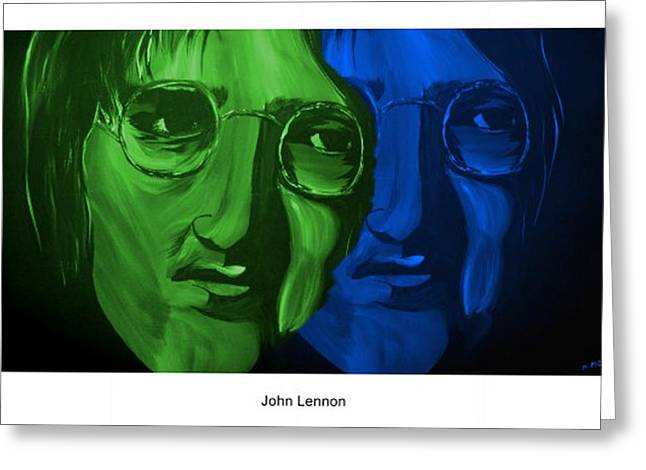 Lennon Greeting Card by Mark Moore