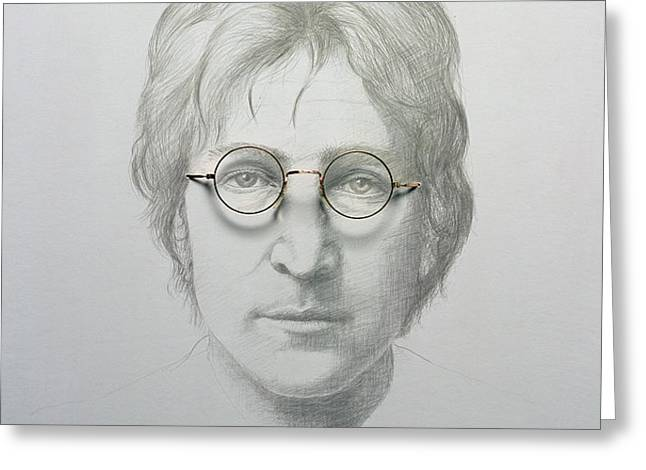 Lennon  Greeting Card by Trevor Neal
