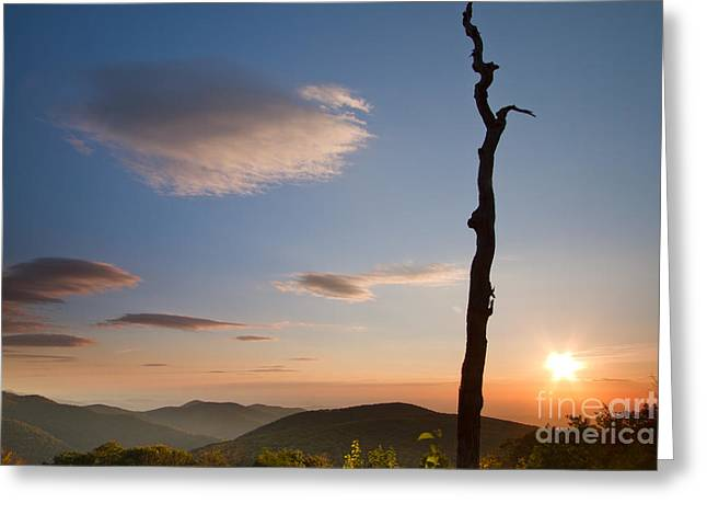 Shenandoah National Park Greeting Cards - Lenticular Clouds over Shenandoah National Park Greeting Card by Dustin K Ryan