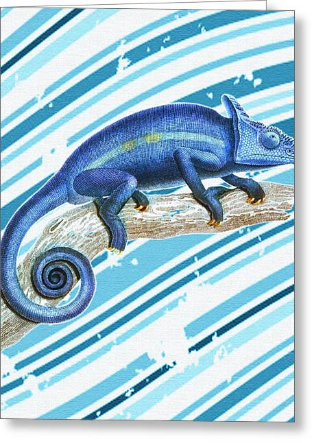 Engraving Digital Greeting Cards - Leo Loves Lizards Greeting Card by Nikki Marie Smith