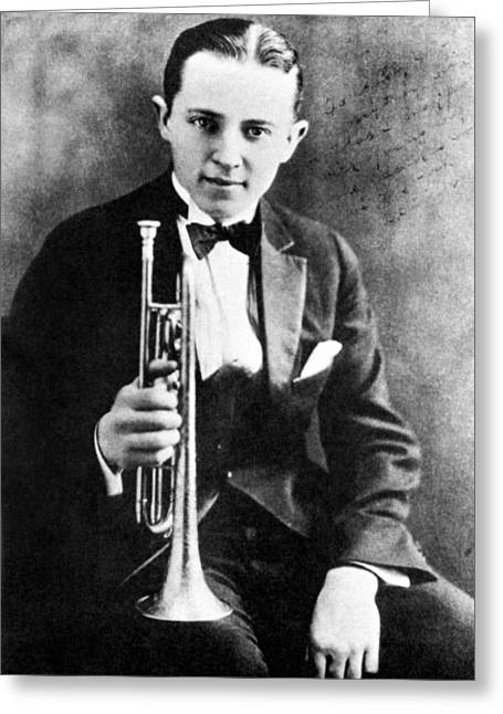Tuxedo Photographs Greeting Cards - (leon) Bix Beiderbecke Greeting Card by Granger