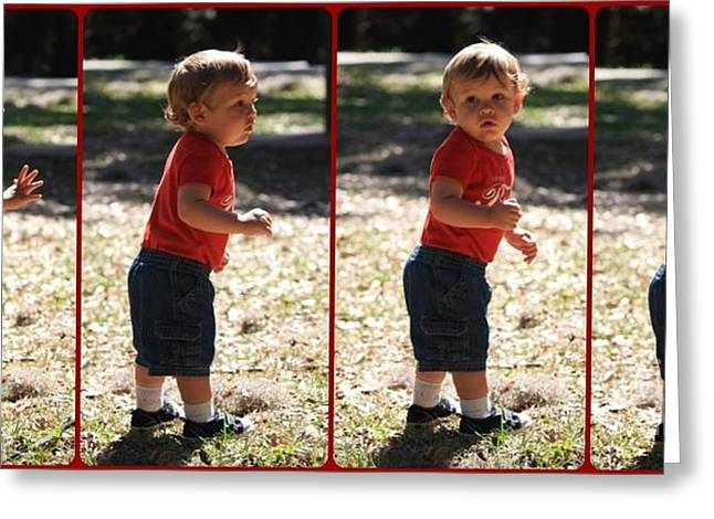 Baby Boys Greeting Cards - Leon Riley Greeting Card by Mandy Shupp