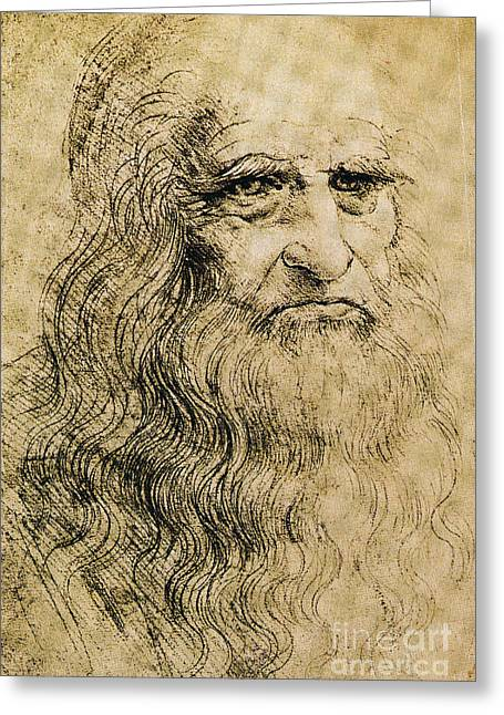 Vinci Leonardo Da 1452-1519 Greeting Cards - Leonardo Da Vinci  Greeting Card by Science Source
