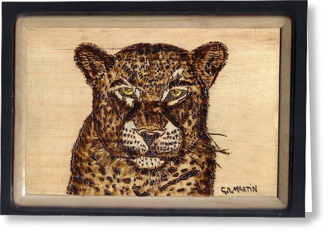 Leopard Greeting Card by Clarence Butch Martin