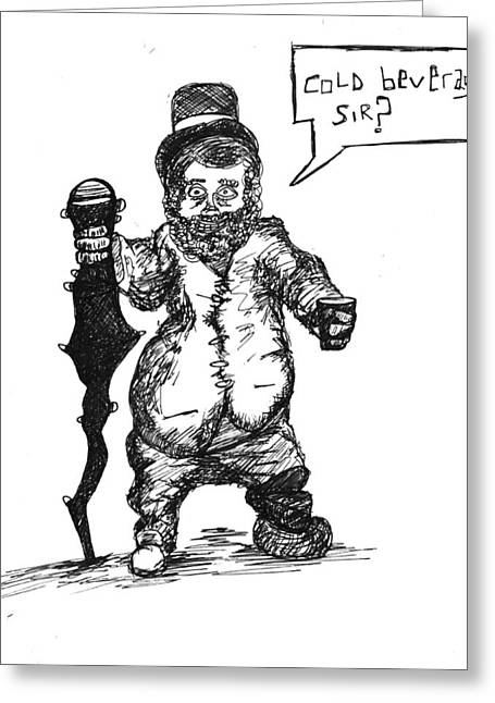 Best Sellers -  - Sketchbook Greeting Cards - Leperchaun Greeting Card by Michael Mooney