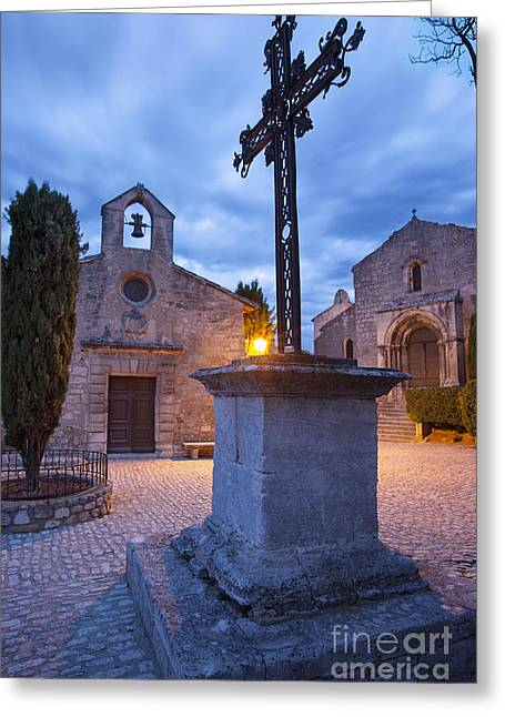 Provence Village Greeting Cards - Les Baux Iron Cross Greeting Card by Brian Jannsen