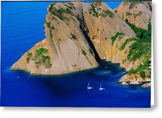 Les Calanques Greeting Card by John Galbo