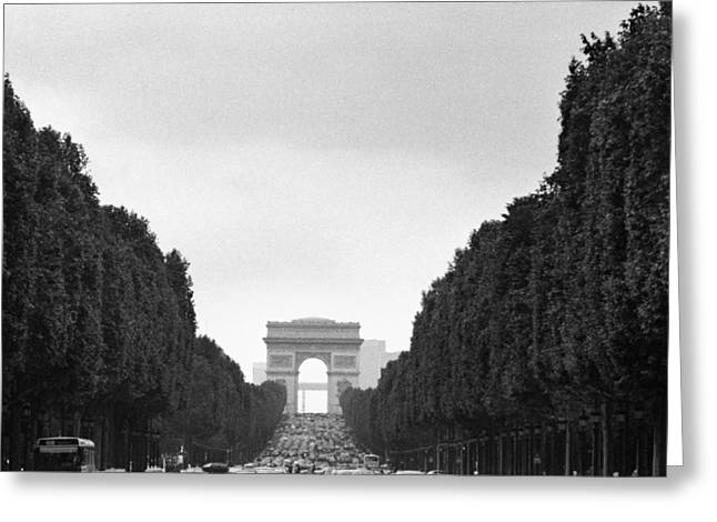 Champs Photographs Greeting Cards - Les Champs Elysees Greeting Card by Hans Mauli