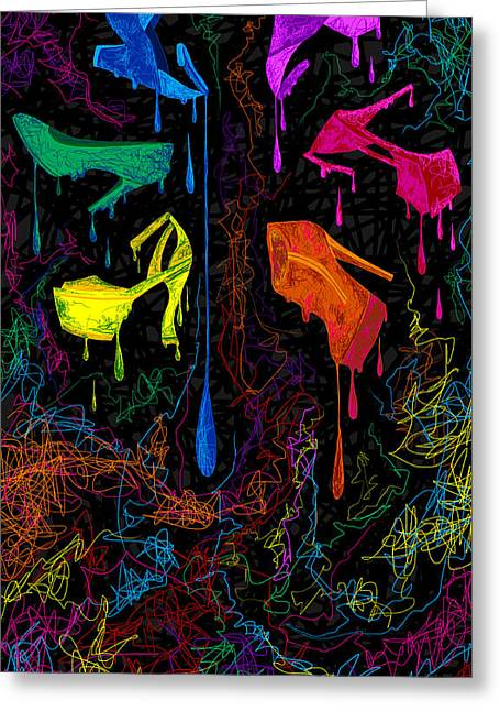 Des Chaussures Greeting Cards - Les couleur des chaussures Numero 1 Greeting Card by Kenal Louis