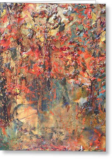 Autumn Sculptures Greeting Cards - Les Feuilles Mortes Greeting Card by Dawn Wilie