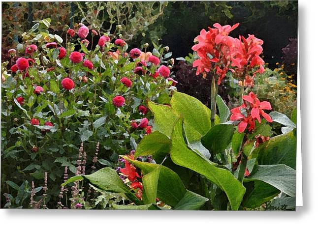 Les Fleurs de Honfleur Greeting Card by Joe Bonita