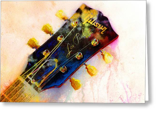 Les Paul Greeting Cards - Les is More Greeting Card by Andrew King